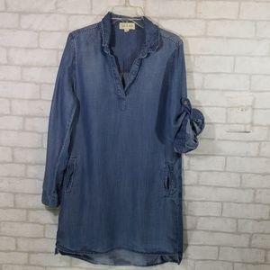 Cloth and stone chambray shirt/dress size XS